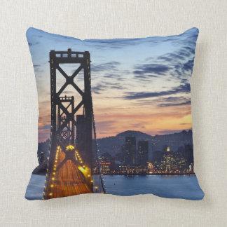 The Bay Bridge from Treasure Island Throw Pillows