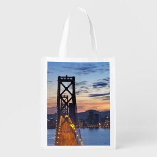 The Bay Bridge from Treasure Island Reusable Grocery Bag