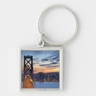 The Bay Bridge from Treasure Island Silver-Colored Square Keychain