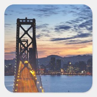The Bay Bridge from Treasure Island Square Sticker