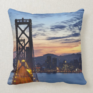 The Bay Bridge from Treasure Island Throw Pillow