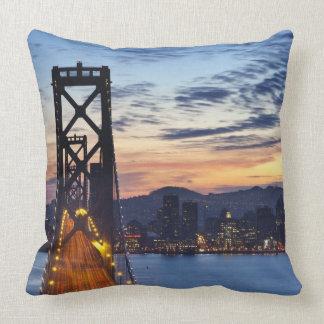 The Bay Bridge from Treasure Island Throw Pillow