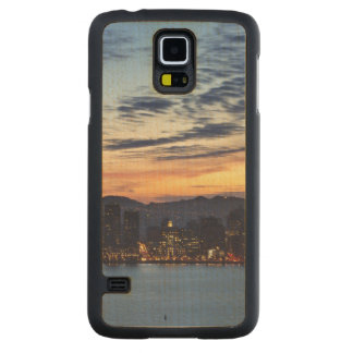The Bay Bridge from Treasure Island Carved® Maple Galaxy S5 Slim Case