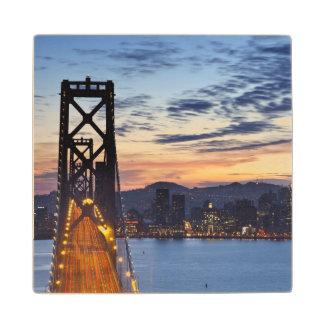 The Bay Bridge from Treasure Island Wood Coaster