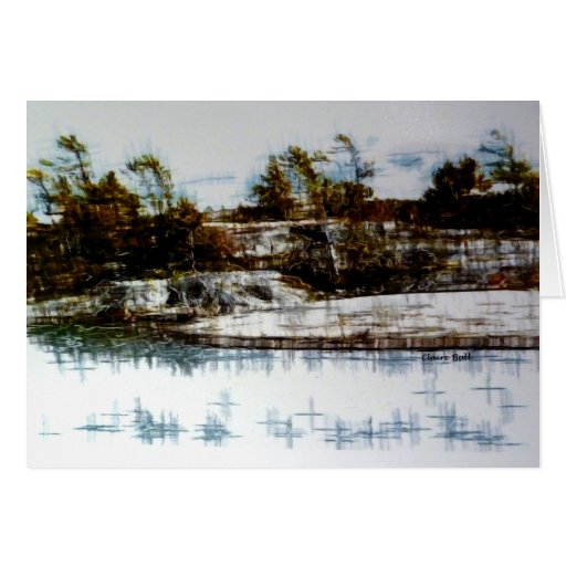 """""""The Bay"""" landscape Greeting Cards"""