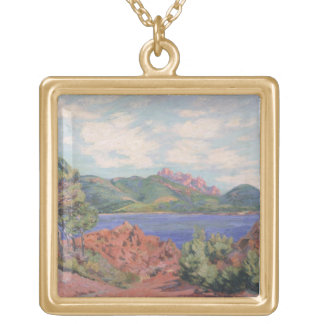 The Bay of Agay, c.1905 (oil on canvas) Gold Plated Necklace