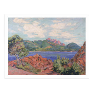 The Bay of Agay, c.1905 (oil on canvas) Postcard