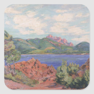 The Bay of Agay, c.1905 (oil on canvas) Square Sticker