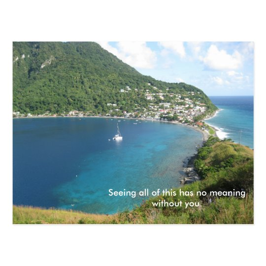 The bay of Dominica Postcard