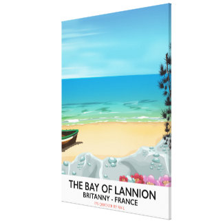 The Bay of Lannion France travel poster Canvas Print