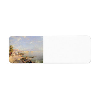 The Bay of Naples by Franz Richard Unterberger Labels