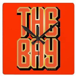 The Bay - Orange Wall Clock