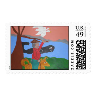 The Bay Watcher Postage Stamp
