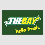 The Bay Way Rectangle Stickers