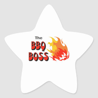 THE BBQ BOSS STAR STICKER