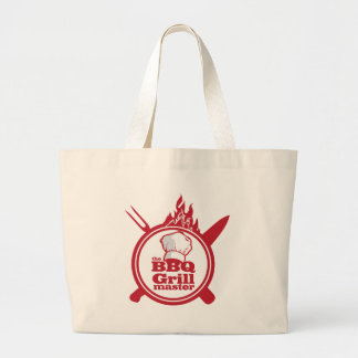 The BBQ Grill master Large Tote Bag