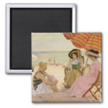 The Beach, 1929 2 Inch Square Magnet