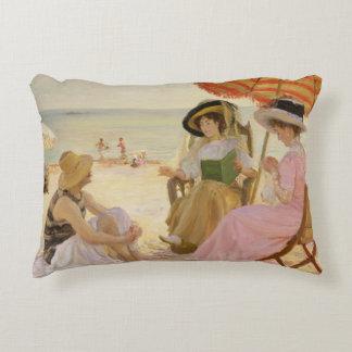 The Beach, 1929 Accent Pillow