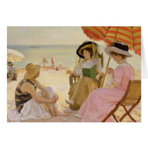 The Beach, 1929 Card