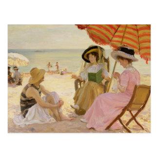 The Beach, 1929 Postcard