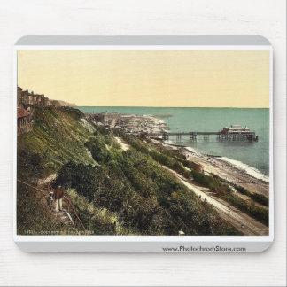 The beach and pier, Folkestone, England rare Photo Mouse Pads
