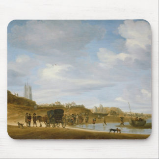 The Beach at Egmond-an-Zee Mouse Pad