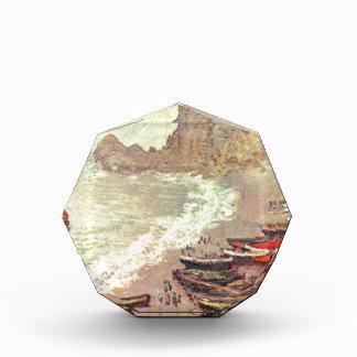 The Beach at Etretat - Claude Monet Acrylic Award