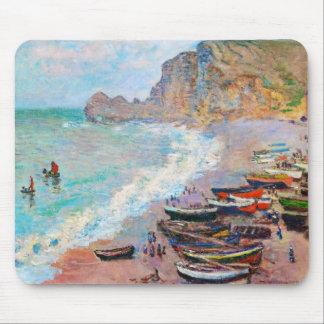 The Beach at Etretat Claude Monet Mouse Pad