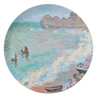 The Beach at Etretat Claude Monet Party Plate