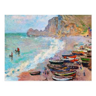 The Beach at Etretat Claude Monet Postcard