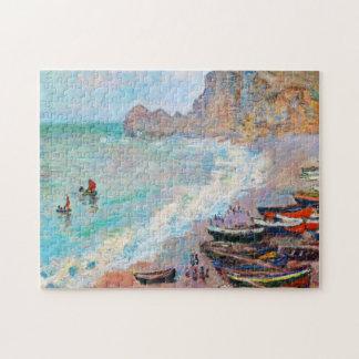 The Beach at Etretat Claude Monet Jigsaw Puzzle