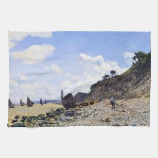 The Beach at Honfleur, 1865 Claude Monet Towels