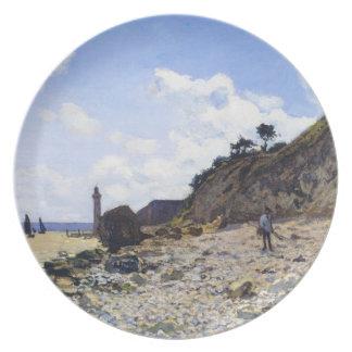 The Beach at Honfleur, 1865 Claude Monet Dinner Plates