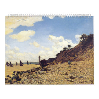 The Beach at Honfleux - Claude Monet Calendar