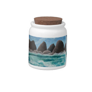 The Beach at Oceanside Candy Jar