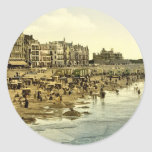 The beach at Ostend Belgium Stickers