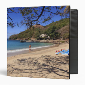 The beach at Pigeon Island National Park 3 Ring Binders