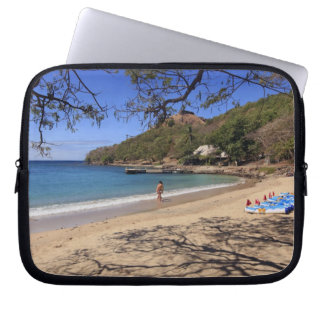 The beach at Pigeon Island National Park Laptop Computer Sleeves