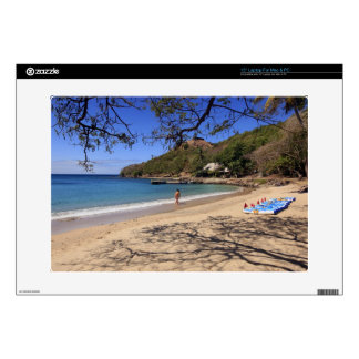 The beach at Pigeon Island National Park Laptop Skins
