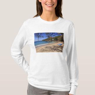 The beach at Pigeon Island National Park T-Shirt