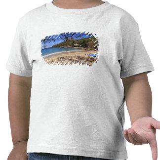 The beach at Pigeon Island National Park Tshirts