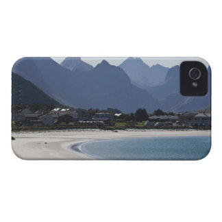 The beach at Ramberg is famous for its white 2 iPhone 4 Case-Mate Cases