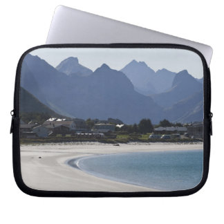 The beach at Ramberg is famous for its white 2 Laptop Sleeves