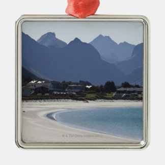 The beach at Ramberg is famous for its white 2 Metal Ornament
