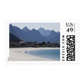 The beach at Ramberg is famous for its white 2 Postage Stamp