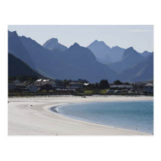 The beach at Ramberg is famous for its white 2 Postcard