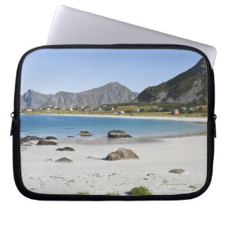 The beach at Ramberg is famous for its white Laptop Sleeve