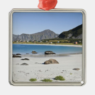 The beach at Ramberg is famous for its white Metal Ornament