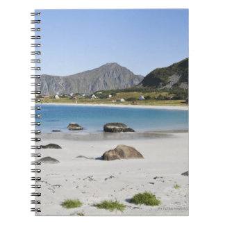 The beach at Ramberg is famous for its white Spiral Notebook