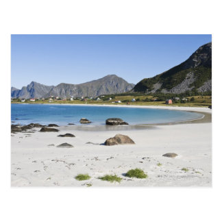 The beach at Ramberg is famous for its white Postcard
